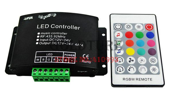 LED Music Voice RGBW Controller 24 key RGBW Audio Controller