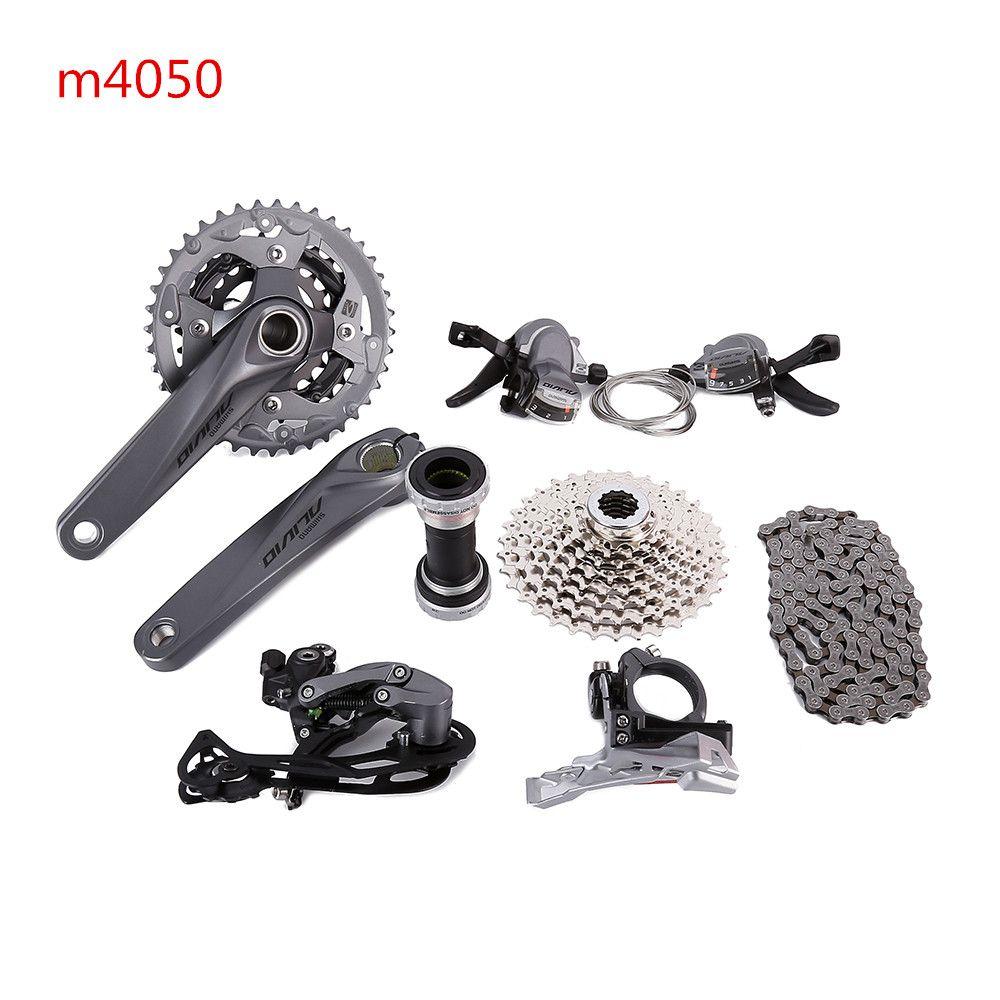 SHIMANO ALIVIO M4000 M4050 T4060 3x9 S 27 S geschwindigkeit MTB Fahrrad groupset mit hydraulische scheiben bremse integrierte FC-M4050 FC-T4060