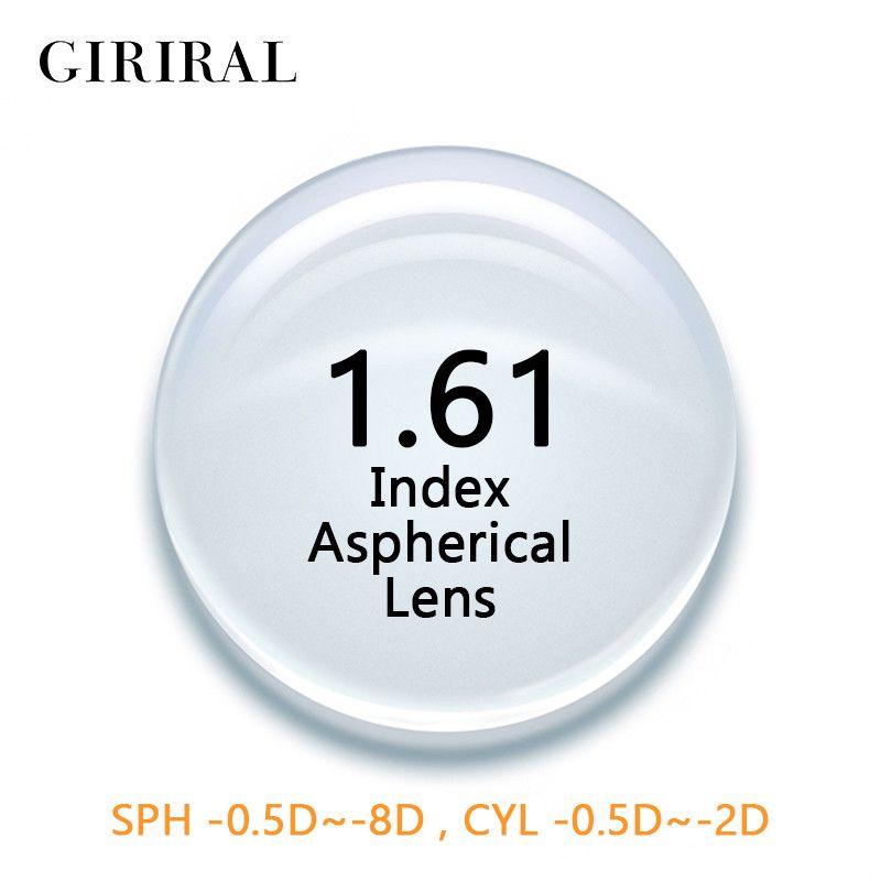 1.61 Index CR-39 Single Version glasses lenses prescription Aspheric Clear optical Myopia eyeglass lenses #1.61CR
