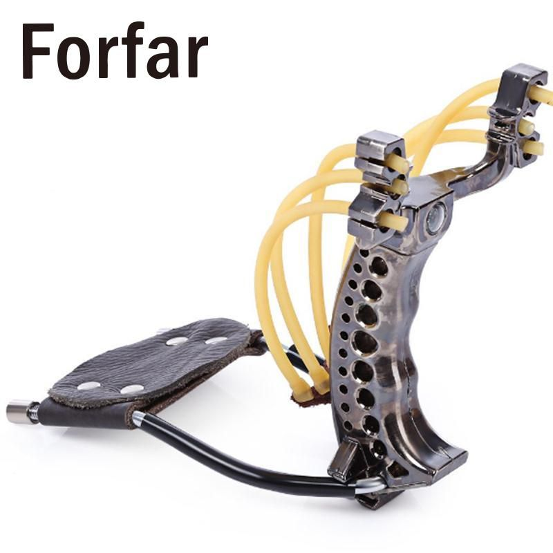 Forfar Folding 2-Strip Catapult Slingshot Sling Hunting Game Nostalgic Childhood Toys