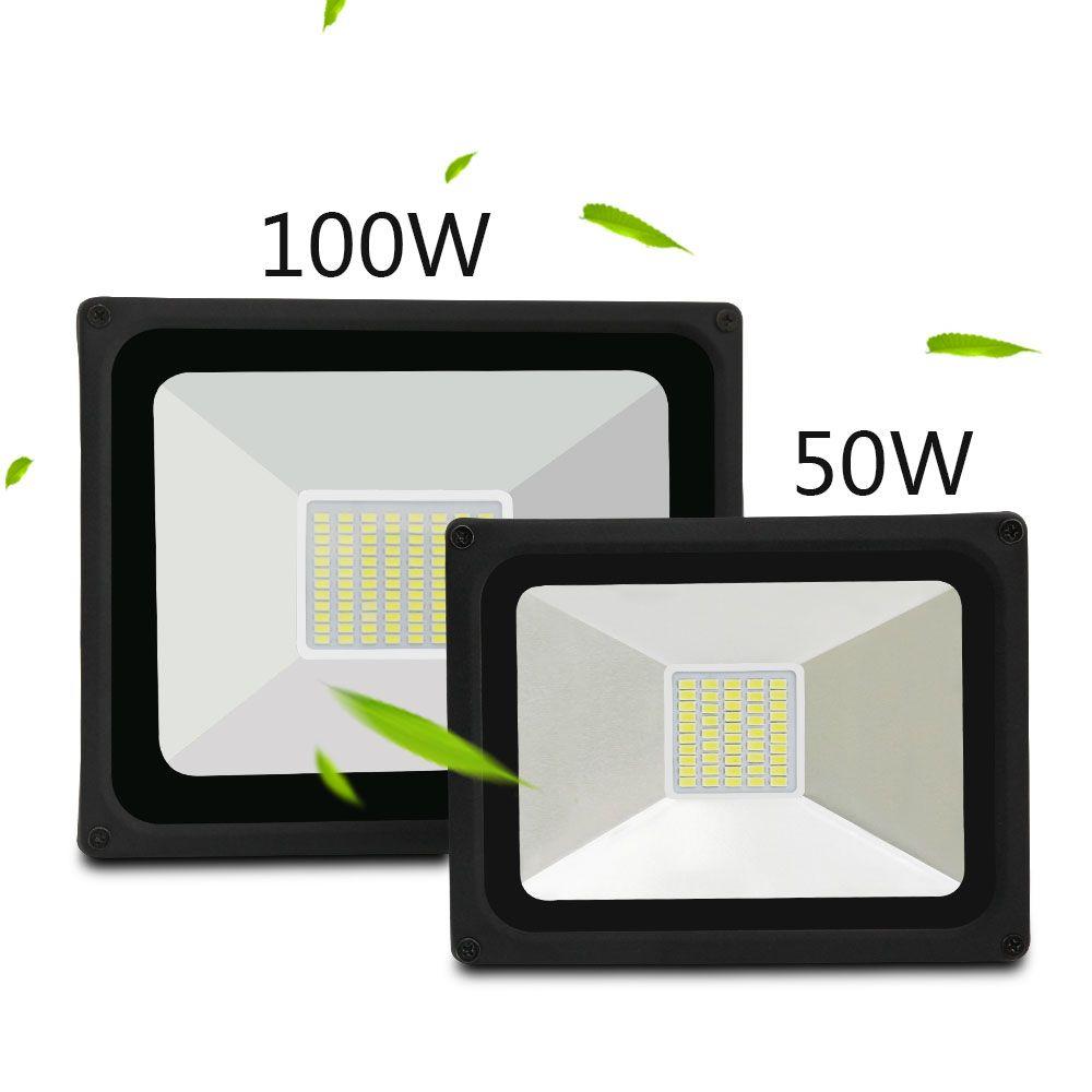 LED Flutlicht 50 watt 100 W Led Flutlicht Scheinwerfer Reflektor Wasserdichte Outdoor Garten Projektoren 5730 IP65 stoßfest