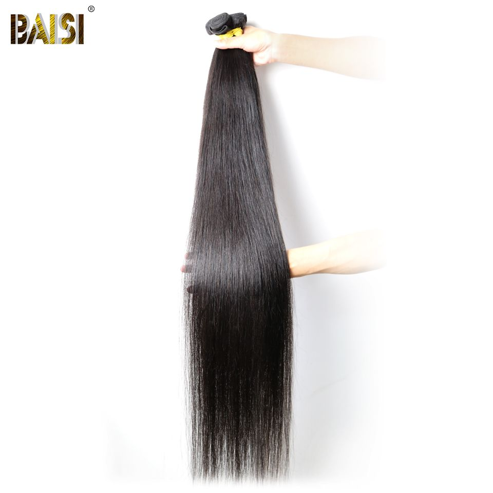 Baisi Hair Factory Virgin Peruvian Straight Hair Longest Length 28 30 32 34 36 38 40 42 inch 100% Human Hair Weave