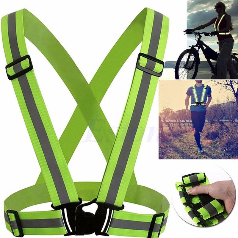 Voyage Kits Multi Réglable En Plein Air Sécurité Visibilité Gilet Vitesse Rayures 360 Degrés réflectivité sûr vélo pièces