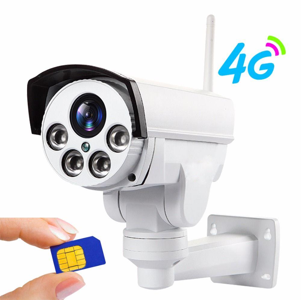 YSA 4G 3G PTZ IP kamera 5X Zoom CCTV Video Wasserdichte Outdoor 1080 P IP kamera IR 50 M Nachtsicht Sicherheit mit Power Adapter