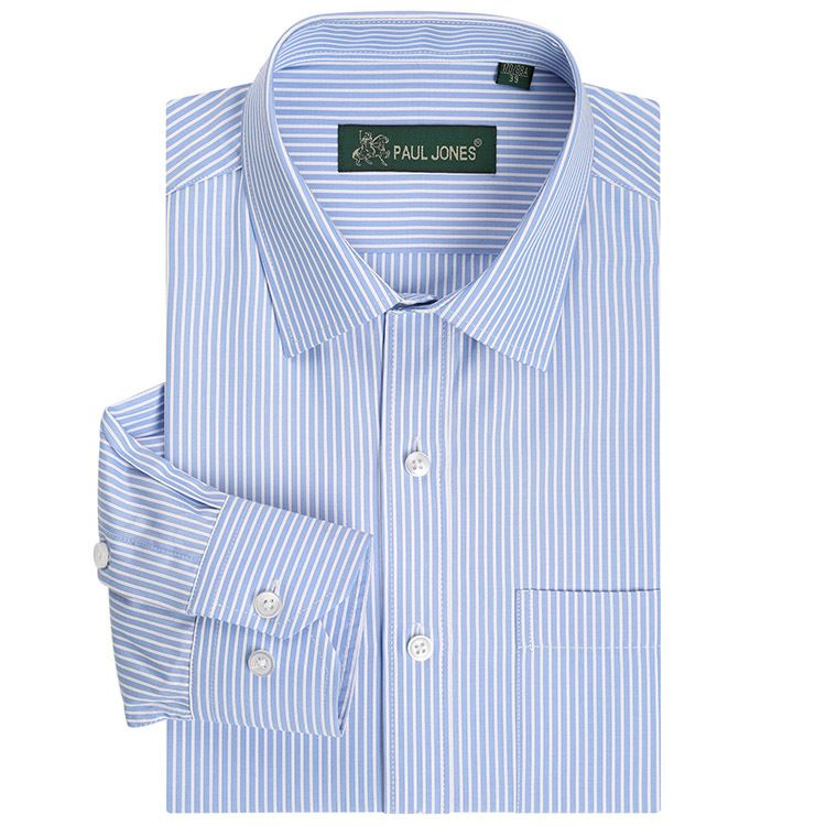Classic Striped Men Dress Shirts Long Sleeve Plus Size Business Formal Shirts Male Casual Shirts camisa masculina camisas hombre