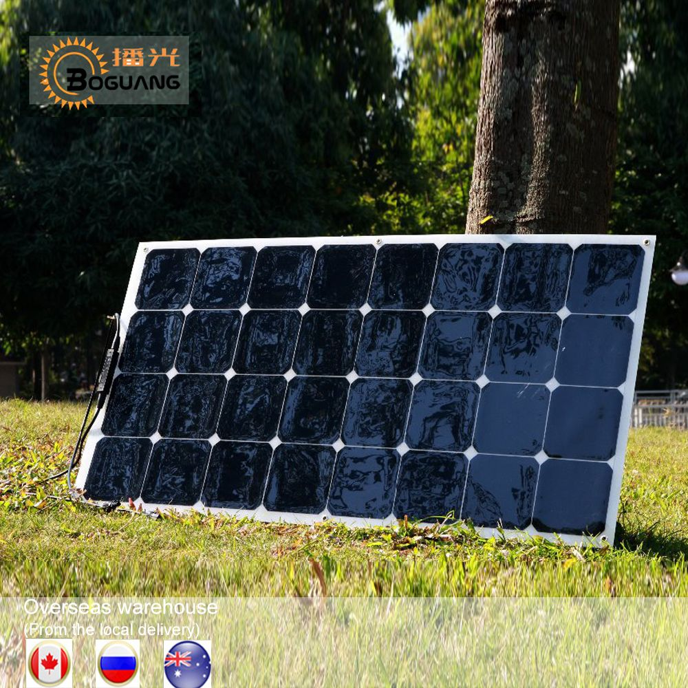 1 pcs 2 pcs 4 pcs 6 pcs Flexible Panneau Solaire 100 w SunPower Monocristallin Panneaux Solaires 18 v 12 v Léger 100 Watt Power plate