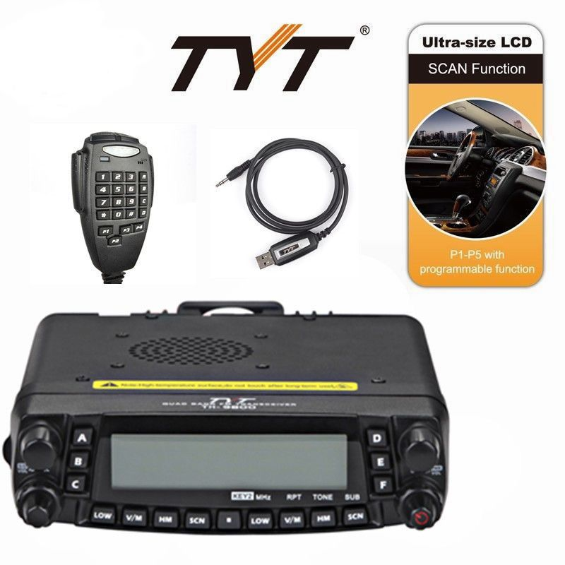 NEUE TYT TH-9800 PLUS 50 watt Quad Band Dual Display Repeater Auto Ham Radio + Programmierung Kabel + Software
