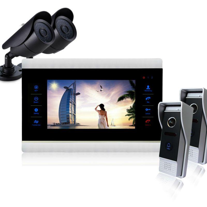 Homefong 10 Zoll Monitor Video-türsprechanlage Sprechanlage Türklingel Intercom Video Intercom türklingel System