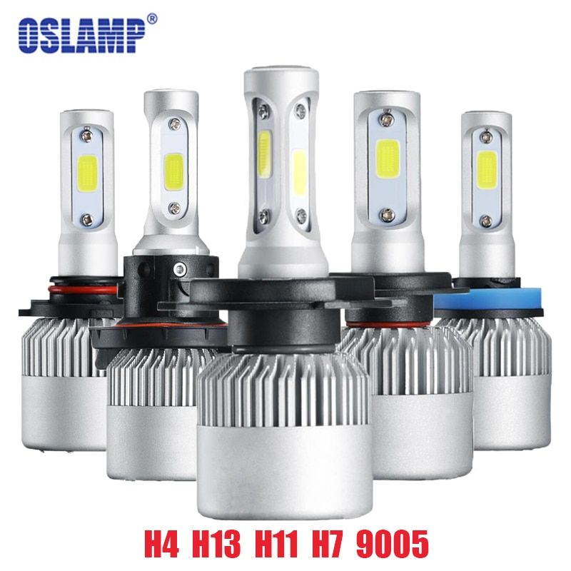 Oslamp S2 H4 H7 H13 H11 H1 9005 9006 H3 9004 9007 9012 COB LED Headlight 72W 8000LM Car LED Headlights Bulb Fog Light <font><b>6500K</b></font> 12V