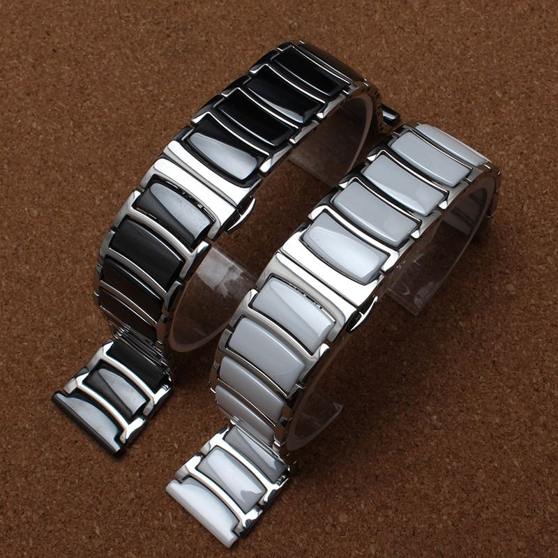 New Style Fashion Metal With Ceramic Watchband bracelet band Gear S3 new Watch accessories 20mm 22mm for diamond or smart-watch