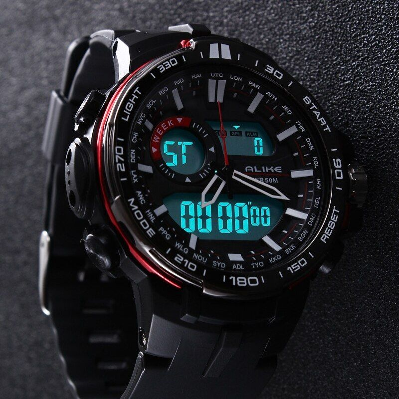 2017 New Brand ALIKE Casual Watch Men G Style Waterproof <font><b>Sports</b></font> Military Watches Shock Men's Luxury Analog Digital Quartz Watch