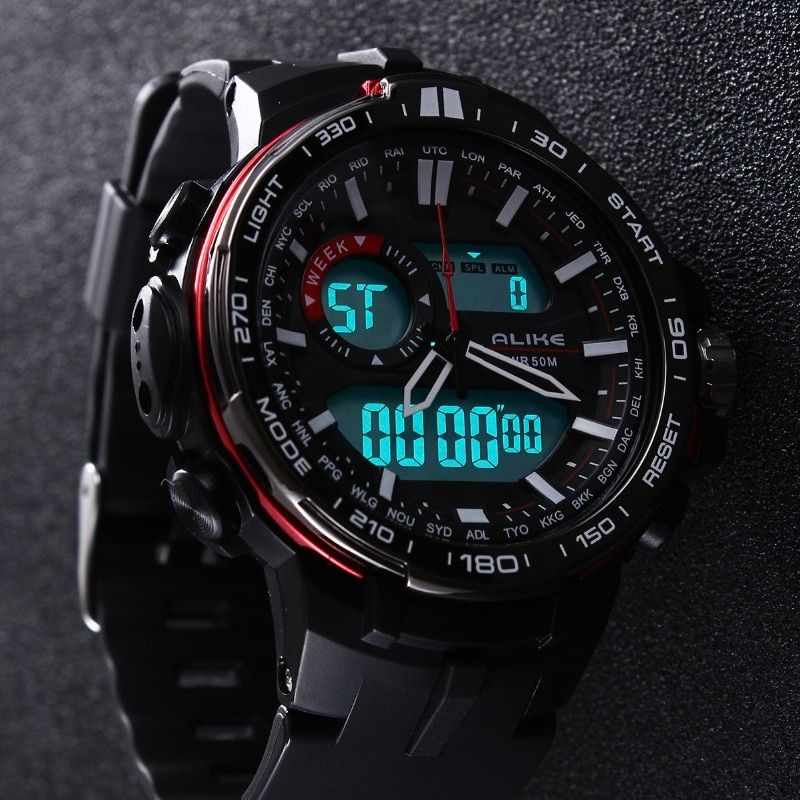 2019 New Brand ALIKE Casual Watch Men G Style Waterproof <font><b>Sports</b></font> Military Watches Shock Men's Luxury Analog Digital Quartz Watch