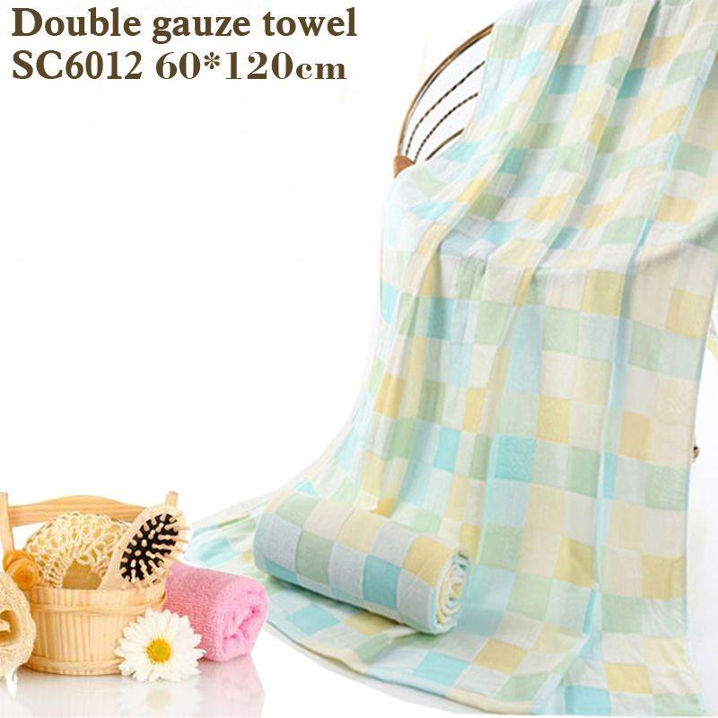 Toalla de baño de algodón de gasa doble plazas impreso baño towelThin sección fácil de secar, no lavar toalla de rizo de algodón toalla de bebé vago