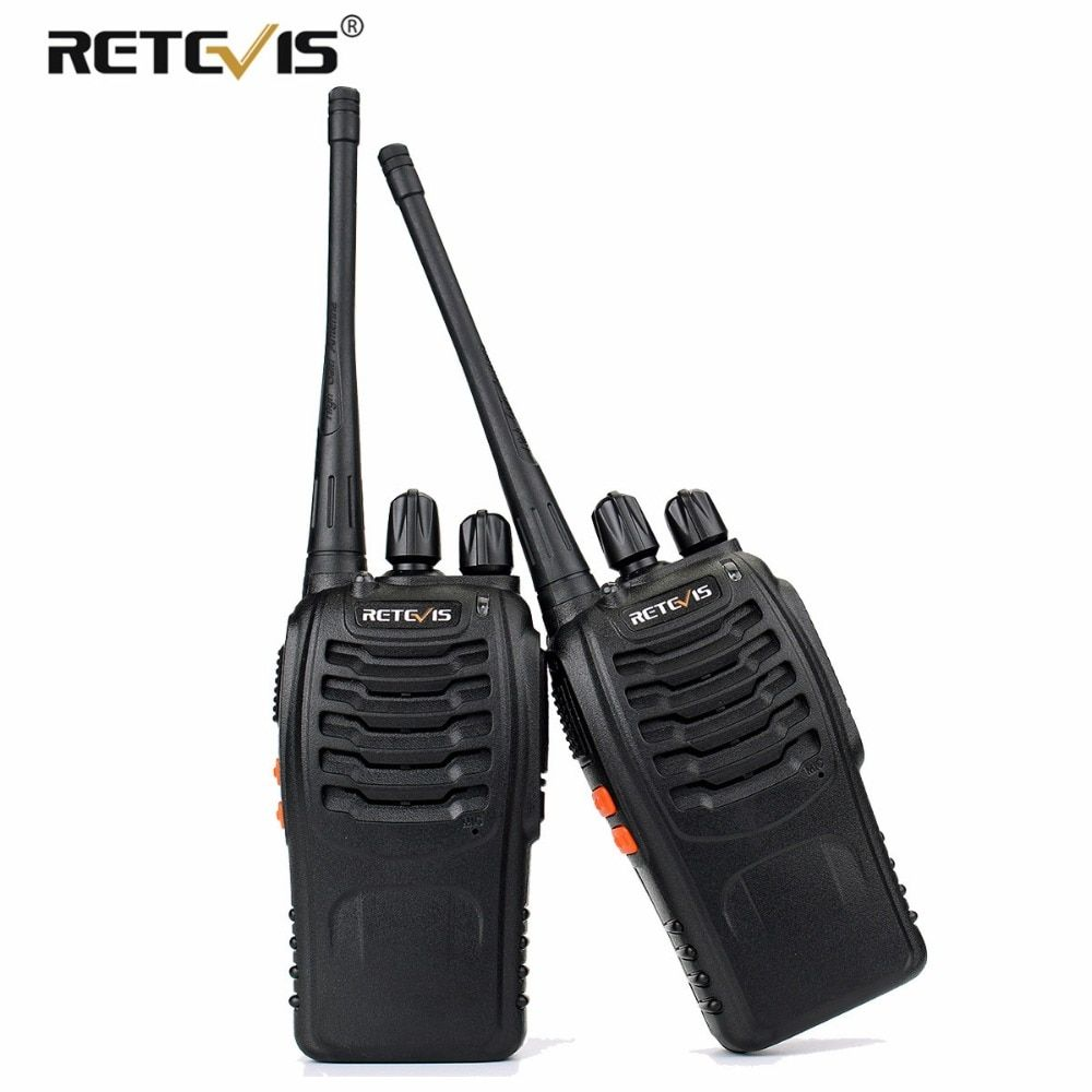 2 pcs Retevis H777 Handy Walkie Talkie Handheld Transceiver UHF 400-470MHz Frequency Portable Two-Way Radio Station Communicator