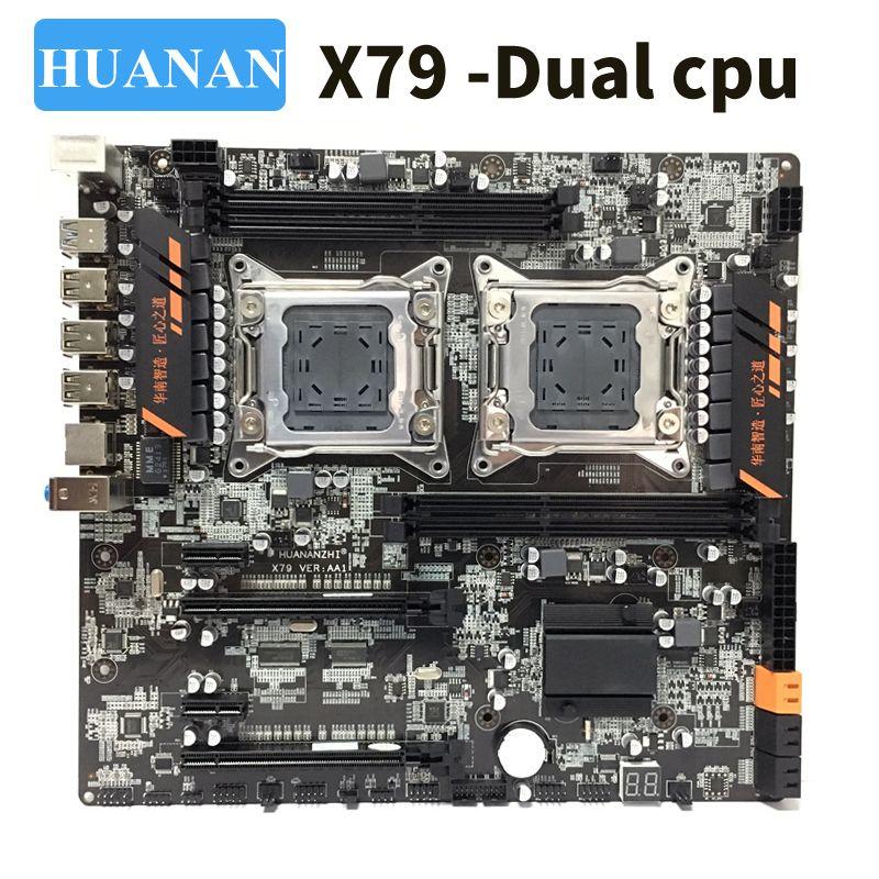 HUANAN huananzhi X79 dual CPU LGA2011 LGA 2011 motherboard mit dual prozessor DDR3