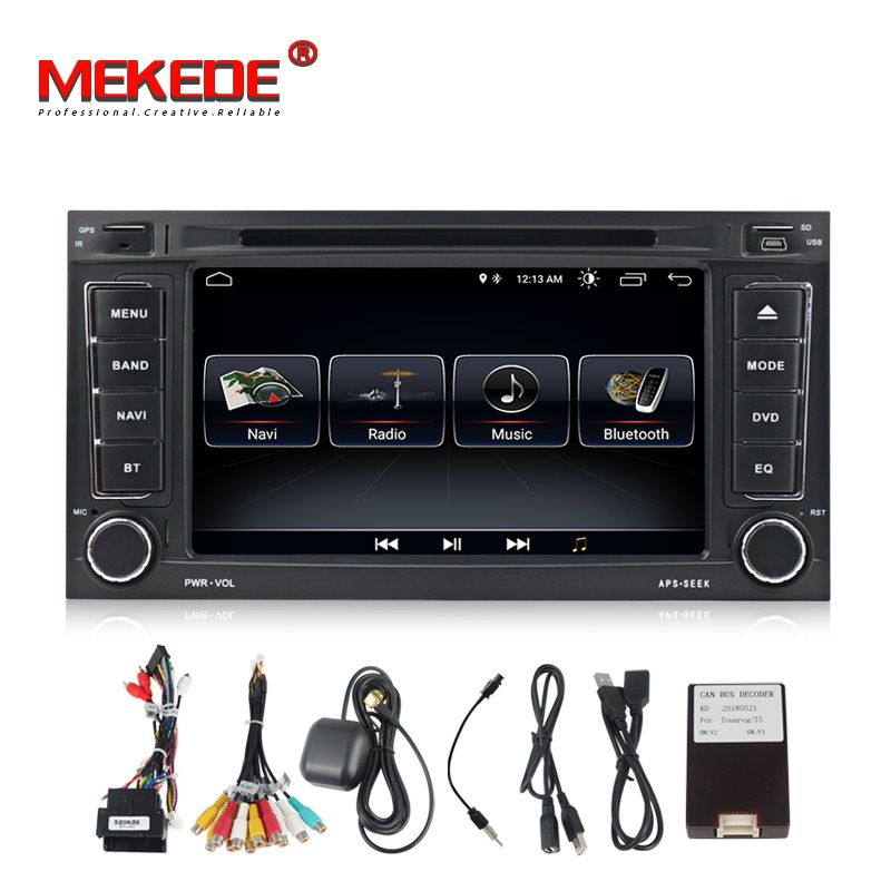 TDA7851 Quad core Android8.0 Auto Audio dvd player für VW Touareg Multivan T5 (2002-2010) mit gps navigator radio ipod 3g wifi