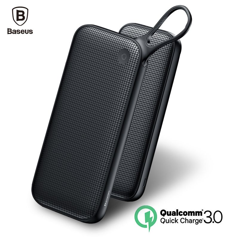 Baseus 20000mAh Quick Charge 3.0 External Power Bank Dual QC3.0 + 18W Type-C PD Fast Charging External Battery Charger Powerbank