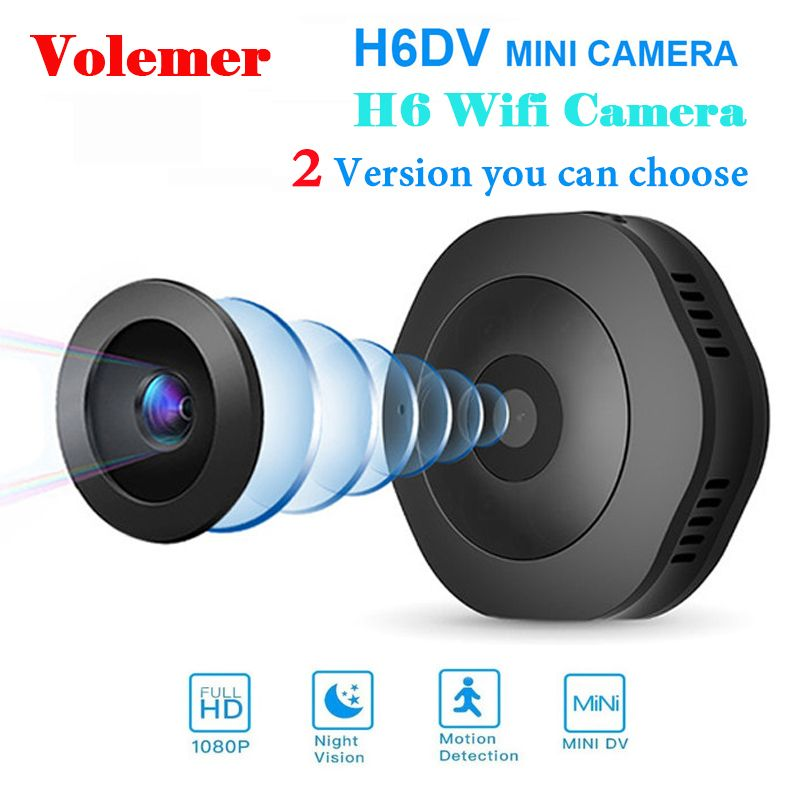 Volemer H6 DV/Wifi Micro Camera Night Version Mini Action Camera with motion Sensor Camcorder Voice Video Recorder Small Camer