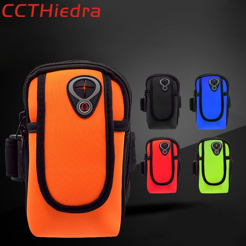 CCTHiedra Brand Universal Phone Sports Armband Running Bags Pouch Zippered Cover 4.0-6.0 inch Arm Wallet Cases Bag