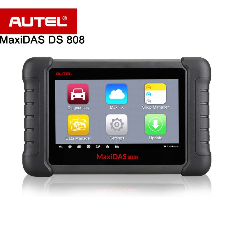 Autel MaxiDAS DS808 Automatic Diagnostic Scanner/Tool For All Electronic Systems Functions of Codes, Live data, Active Test etc.