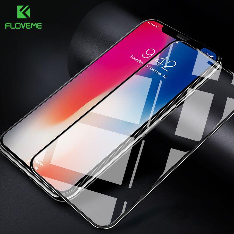 FLOVEME 9 H Glas für iPhone X XR Screen Protector 3D Arc Gebogene Volle Abdeckung für iPhone XS XS MAX gehärtetem Glas Schutz Film