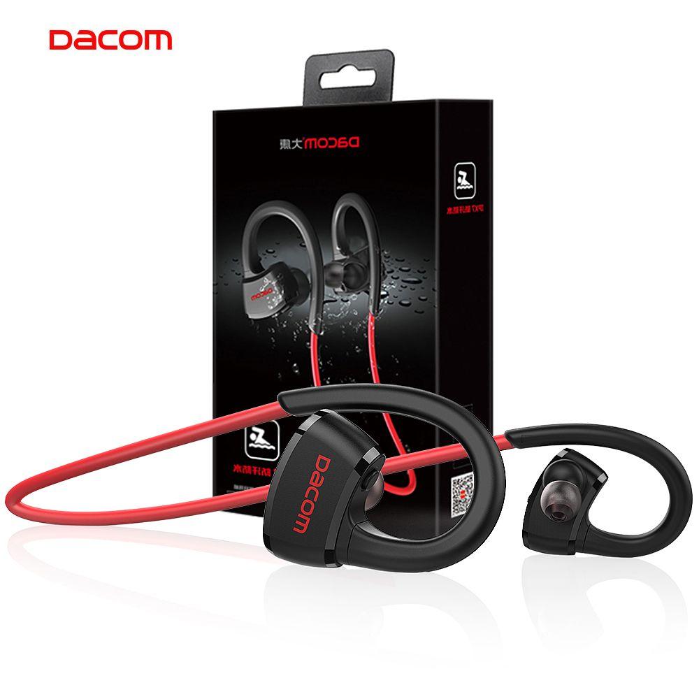 DACOM P10 Sport Bluetooth Headphone MP3 Player IPX7 Waterproof Running Wireless Earphone Stereo Earbuds <font><b>Headset</b></font> with Microphone