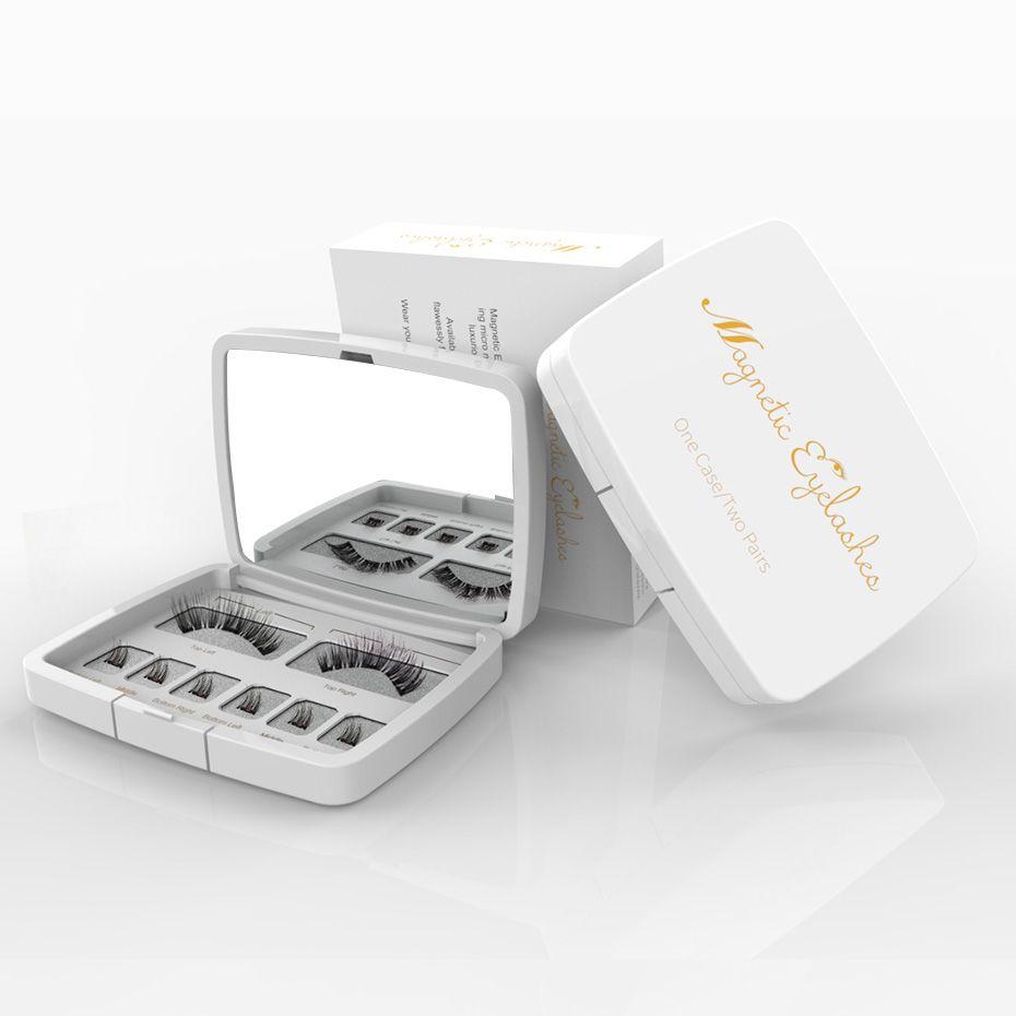 VICILEY 8pcs 3D Magnetic Eyelashes Mink Lash Full Strip Lashes False Eyelash With Tweezers Double Magnet Fake Lash  SCT-W-602