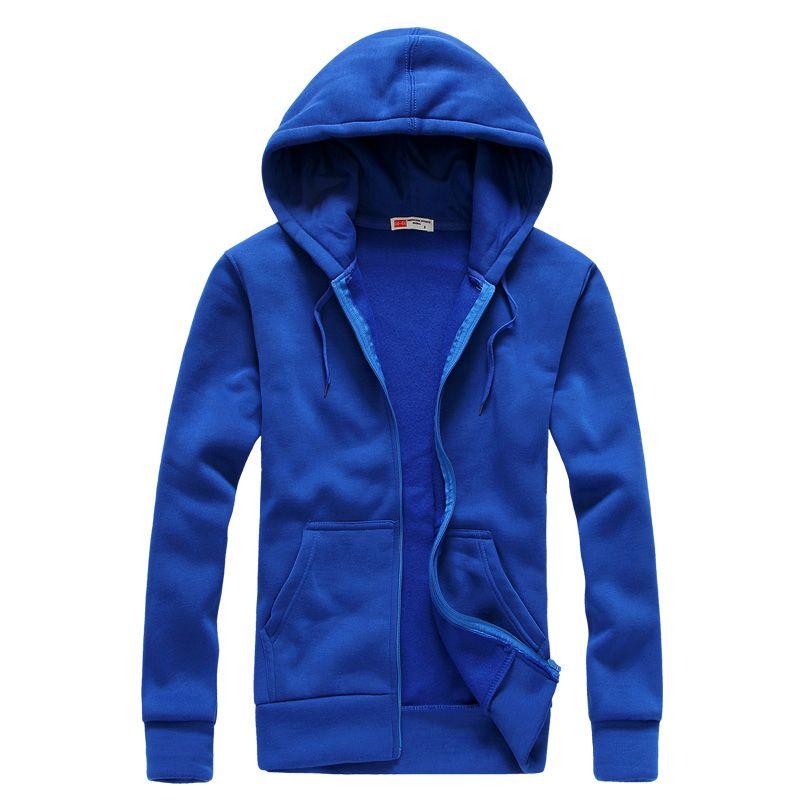 Nouveau 2019 plaine hommes Zip Up à capuche veste sweat à capuche Zipper mâle Top survêtement noir gris Boutique hommes livraison gratuite
