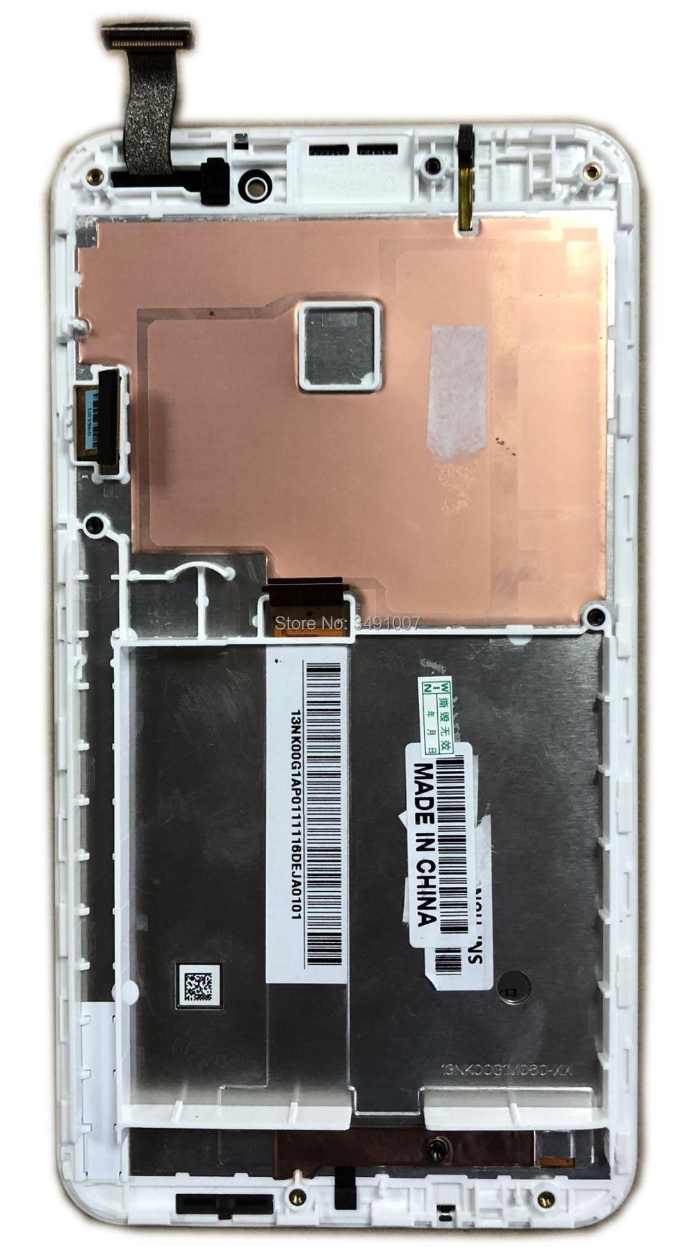 Weiß Farbe LCD Touch Screen Digitizer Montage Für Asus Fonepad Anmerkung 6 FHD6 ME560CG ME560 K00G mit Rahmen