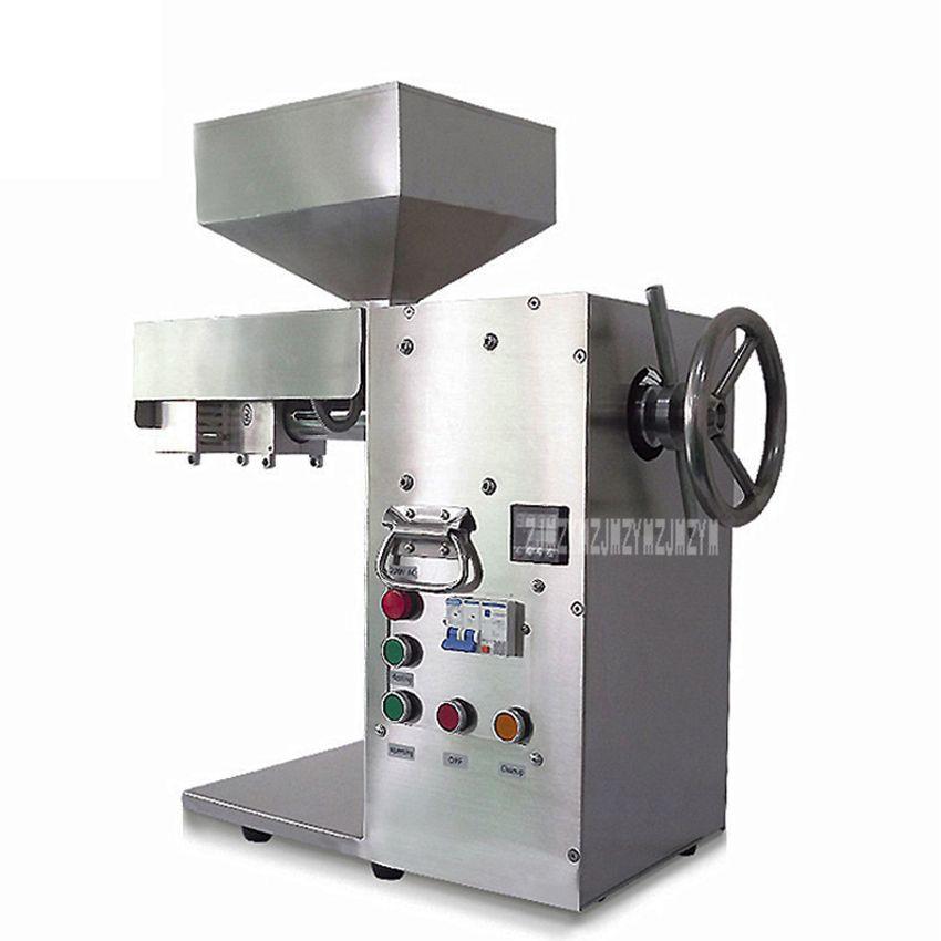 20 kg/std Automatische Ölpresse Maschine Edelstahl Kaltpressung Bohnen Sesam Erdnuss Sonnenblumen Öl Presse Maker DL-ZYJ10B 2000 W