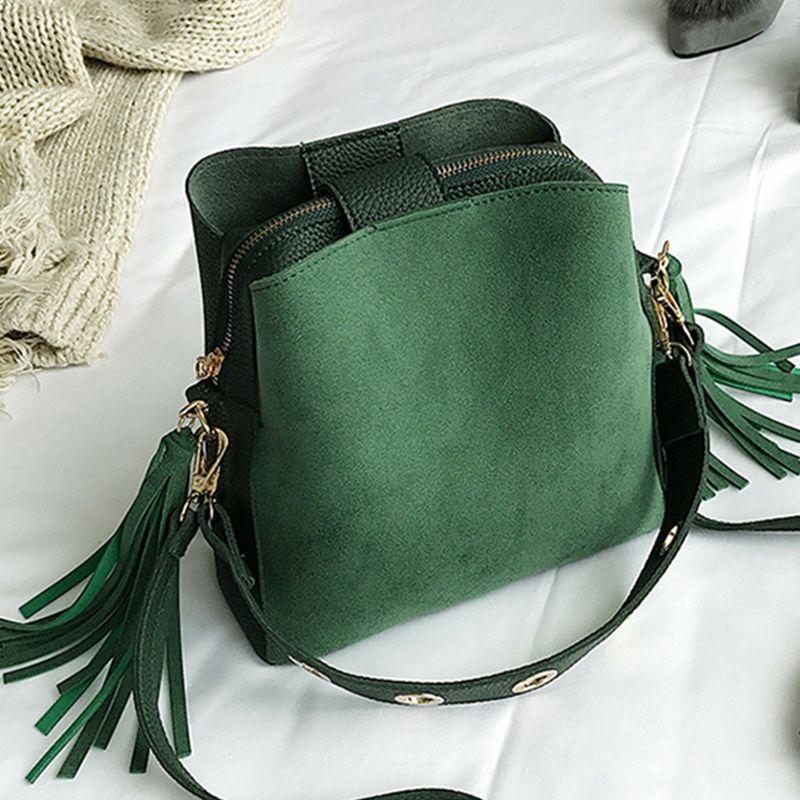 2019 mode gommage femmes seau sac Vintage gland Messenger sac de haute qualité rétro sac à bandoulière Simple sac à bandoulière fourre-tout