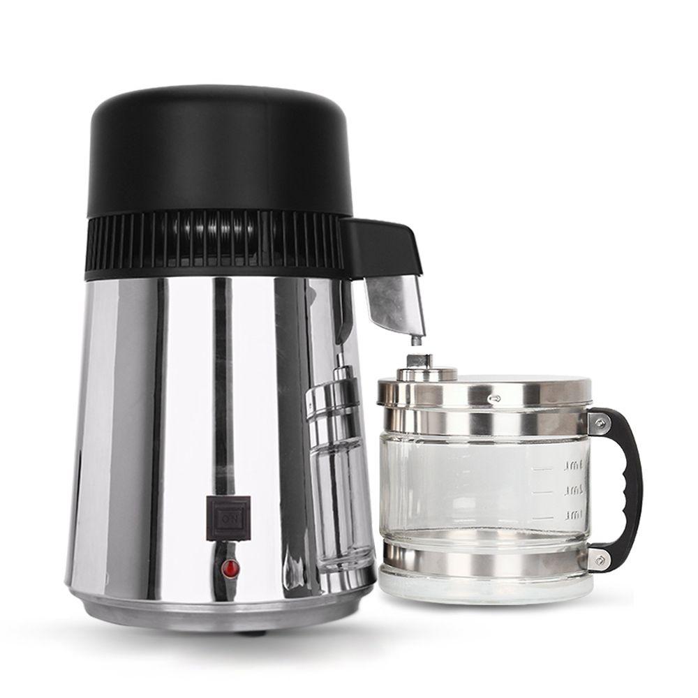 Hot 4L Household Water Distiller Filter 750W Stainless Steel Water Filter Distillation Machine Glass Jar for Home Hospital Lab