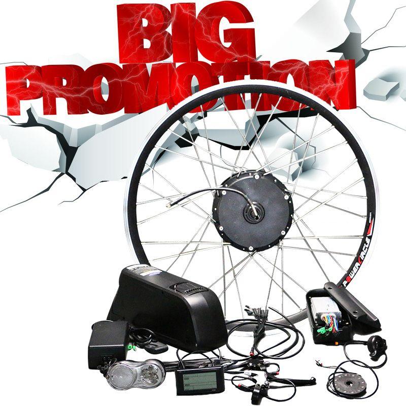 48 V Lithium-Batterie Elektrische Fahrrad Kit 350 w 500 w Hub Motor Rad für 26 700C MTB Bike straße Fahrräder E Bike Conversion Kit
