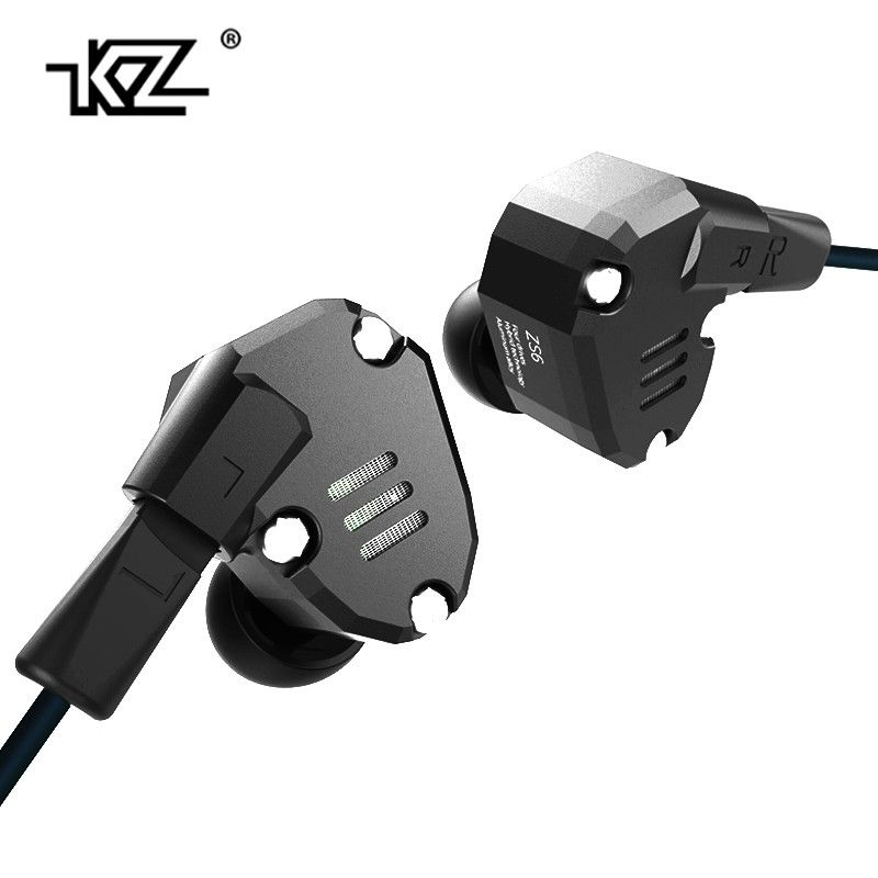 KZ ZS6 2DD+2BA Hybrid In Ear Earphone HIFI DJ Monito Running Sport Earphones Earplug Headset Earbud Two Colors AS10