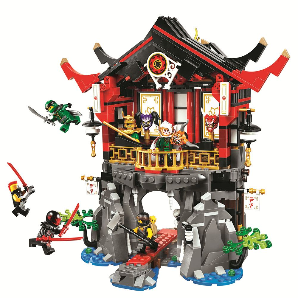BELA Ninjagoed Temple of Resurrection Building Blocks Sets Bricks Ninja Movie Classic Model Kids Toys Marvel Compatible Legoe