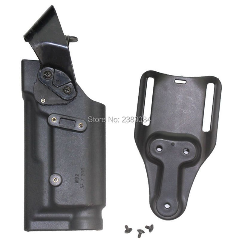 Outdoor Tactical Hunting Gun Accessories M9 92 96 Light Bearing Holster Ipsc Combat Airsoft Shooting Holsters