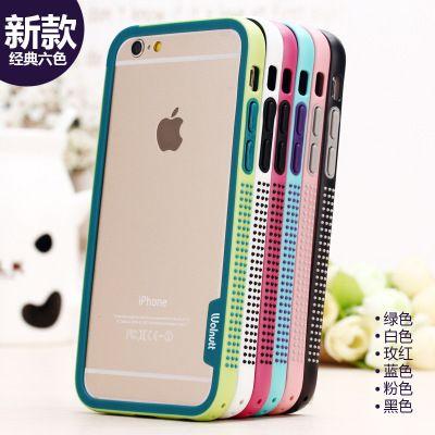 Für iphone 6 6 s plus stoßstange Zenus Walnutt Welle Farbe Schock TPU + PC anti-skid Auto frame Für Apple iPhone6 6 splus weiche rand