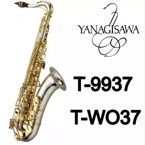 New Arrival YANAGISAWA T-WO37 Bb Tenor Saxophone Silver Plated Tube Gold Key Sax Musical Instruments With Case Mouthpiece
