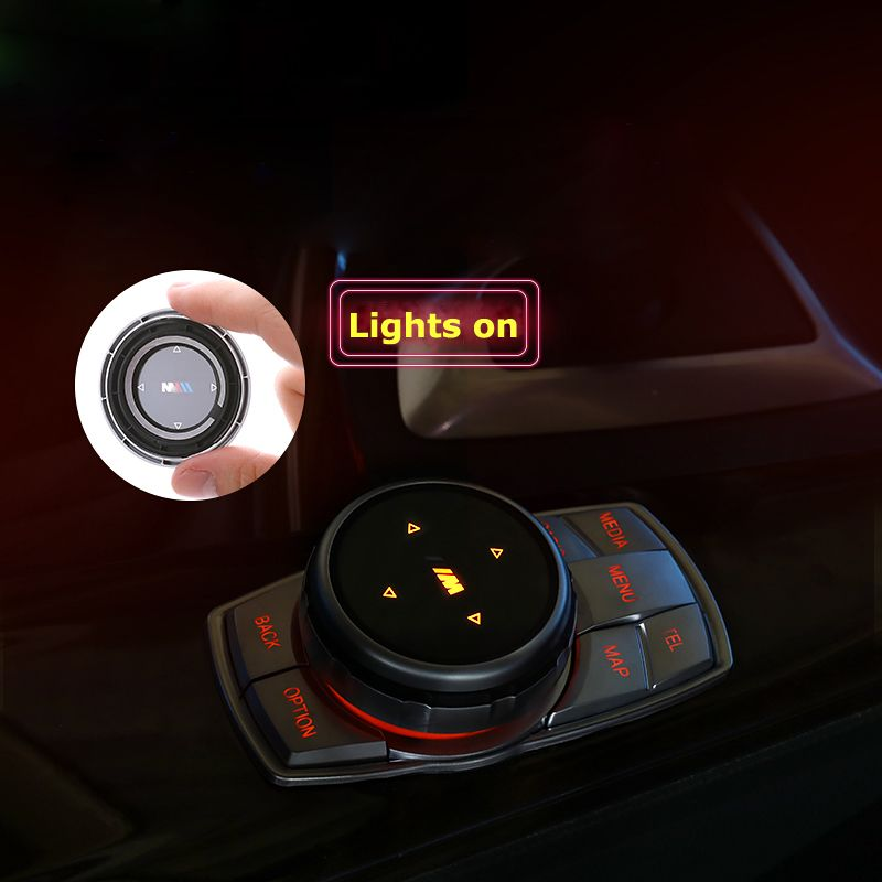 IDrive Автомобильный мультимедийный Пуговицы Обложка м эмблема Наклейки для BMW X1 X3 X5 X6 F30 E90 E92 F10 F18 f11 f07 GT Z4 F15 F16 F25 E60 E61