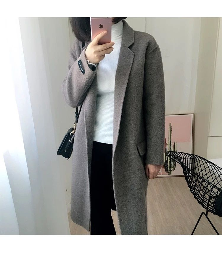 2018 autumn women fashion wool and cashmere coat