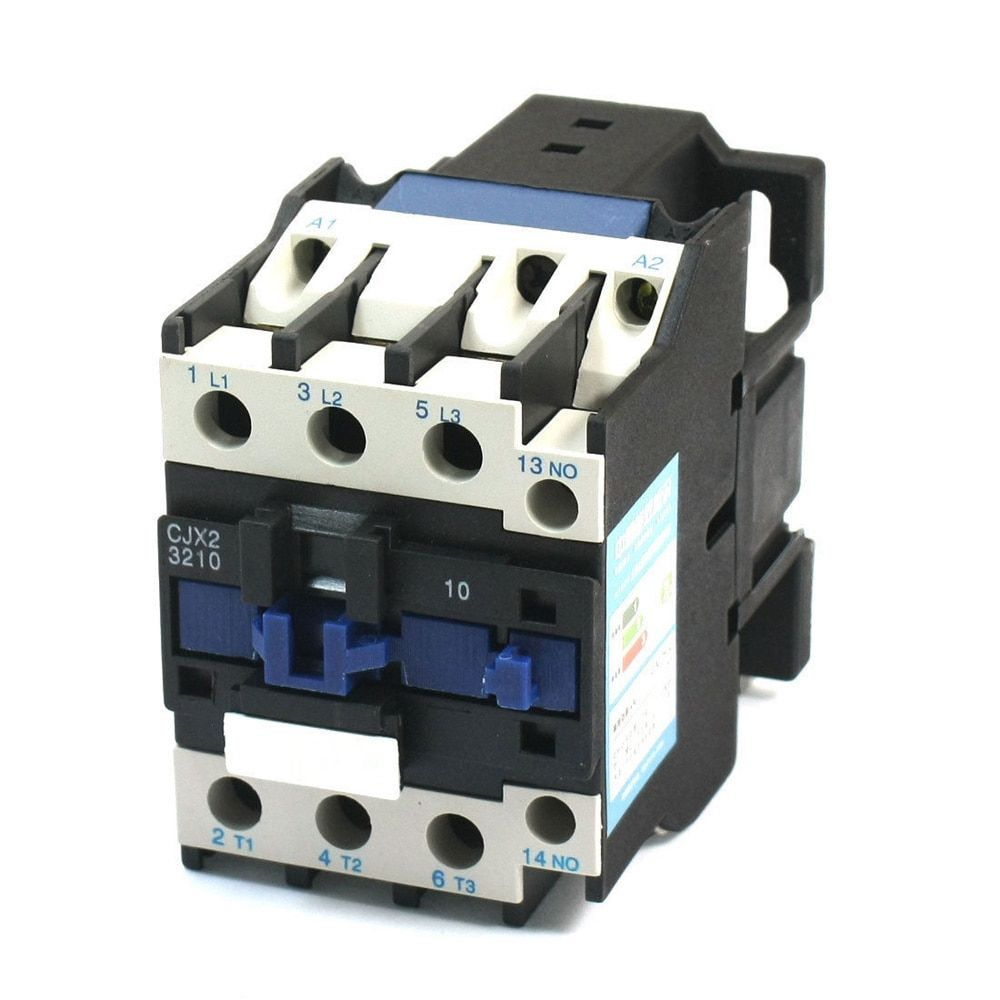 CJX2-3210 AC Contactor Motor Starter Relay 50/60Hz 3Poles+1NO 24VAC Coil Voltage AC 32A Rated Current DIN Rail Mount