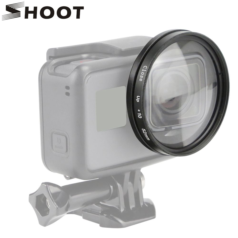 SHOOT 52mm loupe Macro gros plan objectif pour GoPro Hero 7 6 5 noir Action caméra support pour Go Pro Hero 7 6 5 accessoires Kits