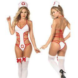 Горячие сексуальные костюмы медсестры форма для Для женщин Эротическое белье медицинская форма Babydoll платье