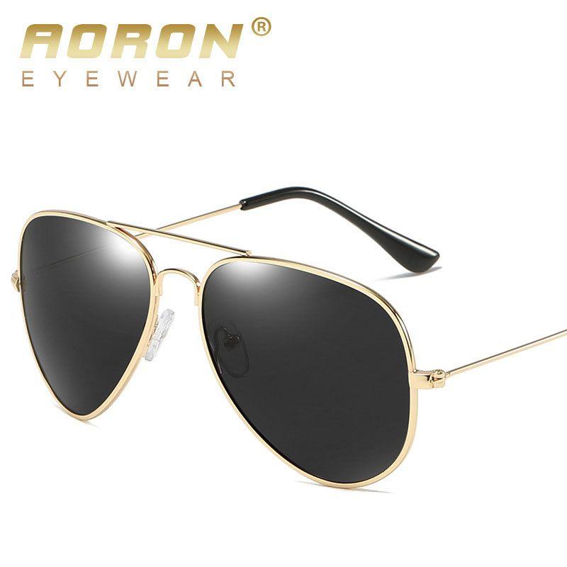 AORON Pilot Aviator Sunglasses Men Polarized Male Sun Glasses For Man Famous Luxury Brand Designer Sunglasses  Oculos Lunette