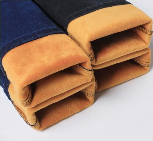 Мужские зимние Утепленные джинсы теплые флисовые джинсы Брюки для девочек Мотобрюки Размеры 32 33 34 35 36 38 40 42