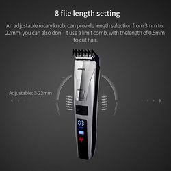 Asli Smart Gunting Rambut Pria Anak Cepat Isi Ulang Listrik LCD Pemangkas Rambut Mesin Jenggot Trimer Alat Penata Rambut Set P47