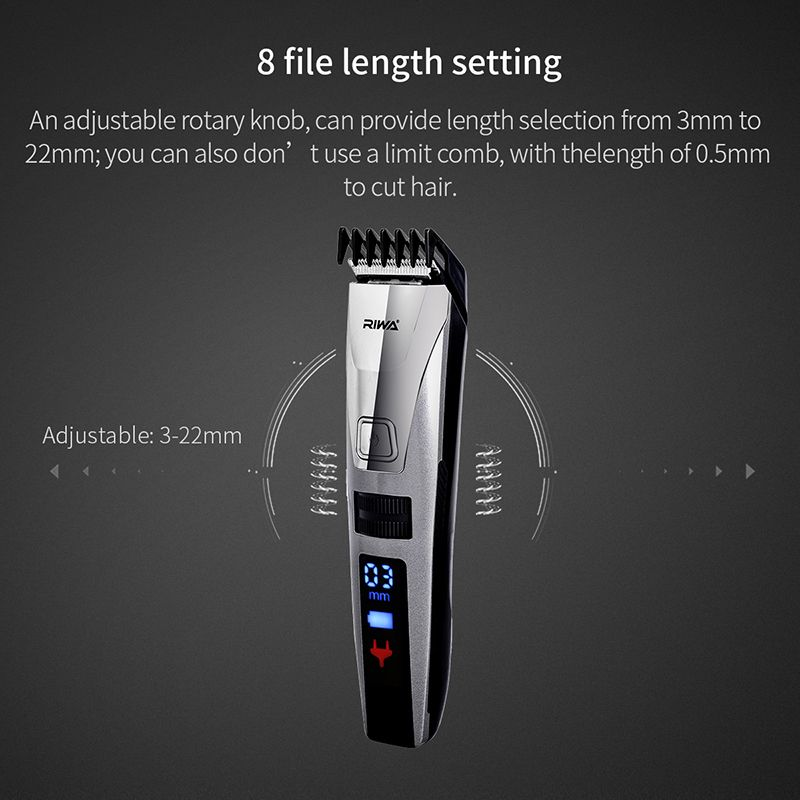 Original Smart Hair Clipper Men Kid Fast Rechargeable LCD Electric Trimmer Haircut Machine Beard Trimer Hairdresser Tools Set 50