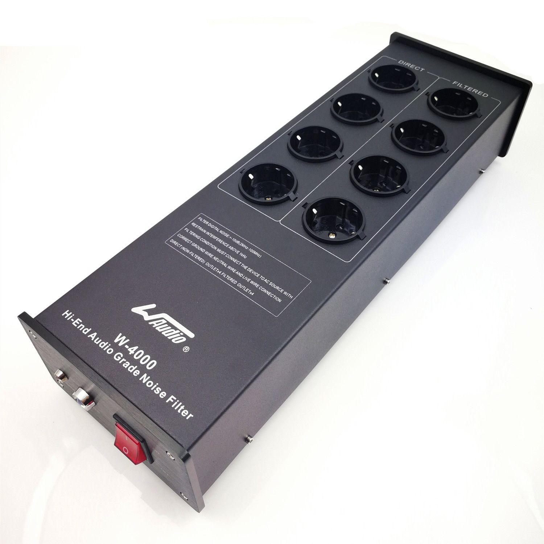 WAudio W-4000 filtre de bruit Audio haut de gamme climatiseur de puissance purificateur de puissance avec prises EU