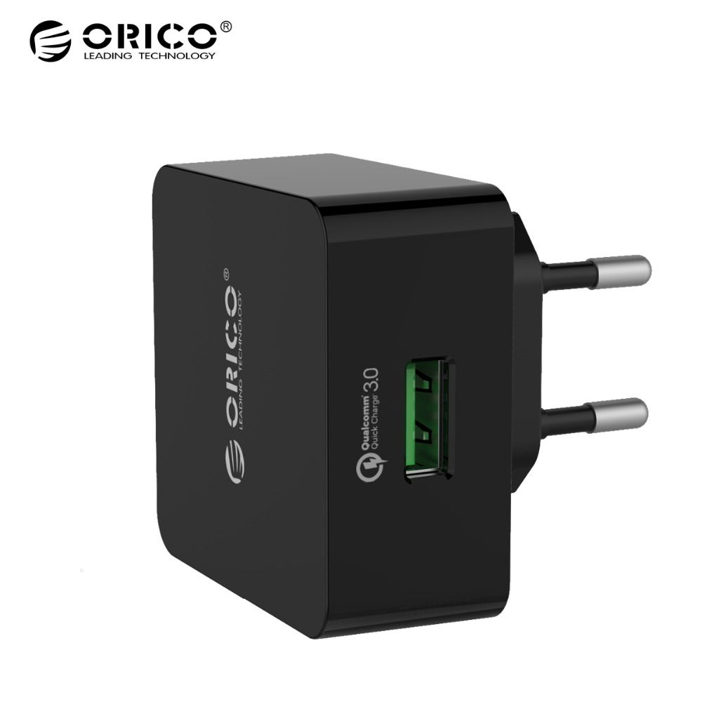 ORICO Phone Charger Quick Charge QTW-1U QC3.0 18W Fast USB Charger for iPhone Samsung Xiaomi Huawei with 1m Free Micro USB Cable