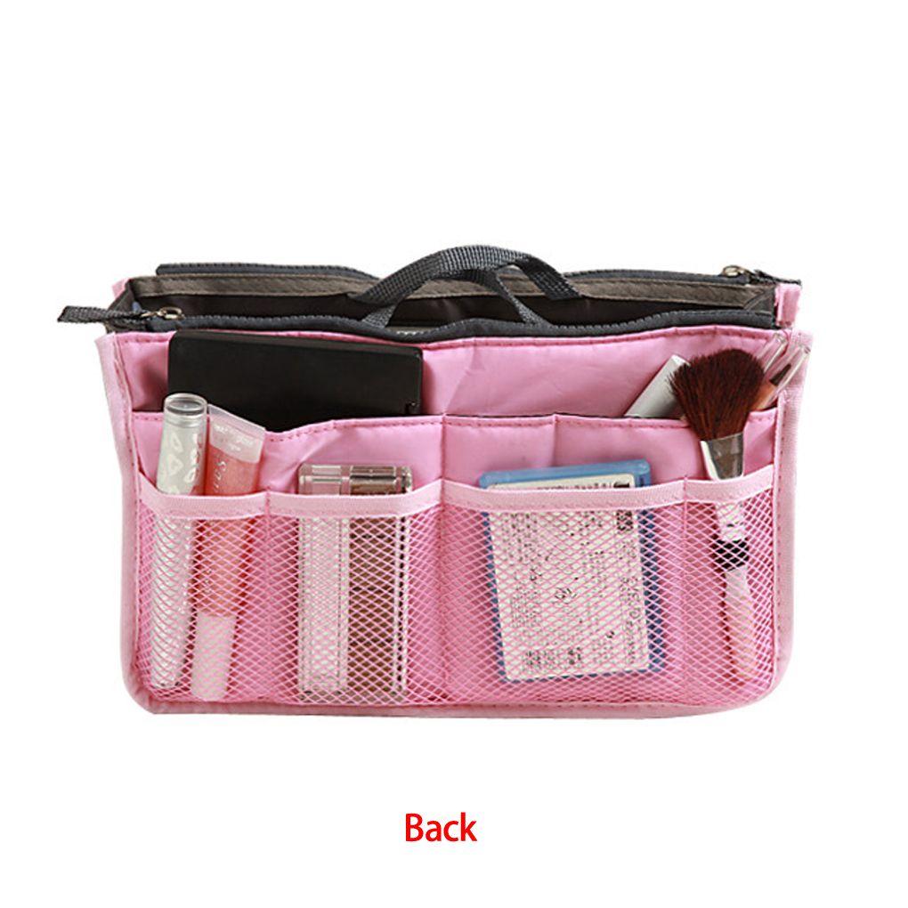Портативный сумка для хранения Для женщин двойной молнии Организатор кошелек Вставить большой мешок-вкладыш Tidy дорожный футляр 13 цветов